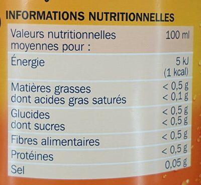 Boisson au thé aromatisé pêche zéro - Informations nutritionnelles - fr