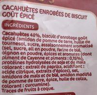 Cacahuètes enrobées goût épicé - Ingrediënten - fr