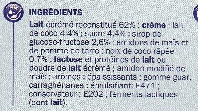 Douceur satinée coco - Ingrédients - fr