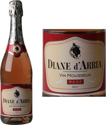 Vin mousseux brut rosé 11% - Produit - fr