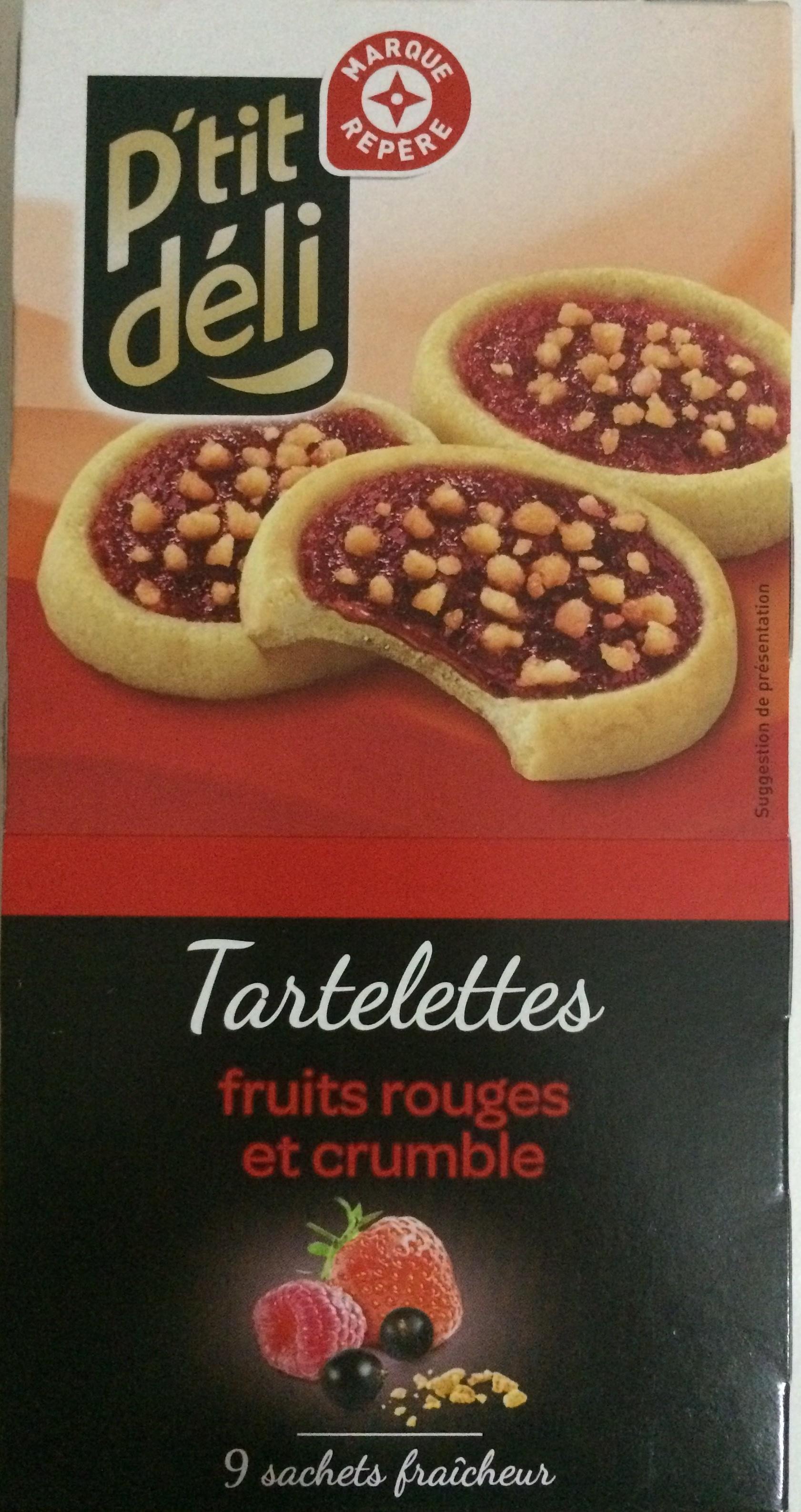 P'tit déli - Tartelettes fruits rouges et crumble - Produit - fr