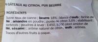 Mini bouchées au citron - Ingrédients - fr