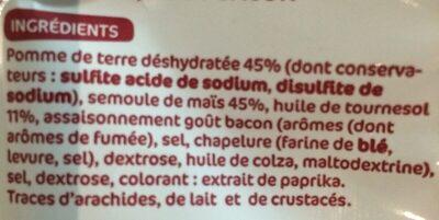 Frites goût bacon - Ingredients