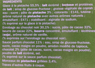 Trium pistache - Ingredients