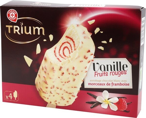 Trium gourmand vanille sauce fruits rouges x 4 - Produit