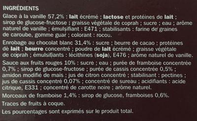 Trium gourmand vanille sauce fruits rouges x 4 - Ingrédients