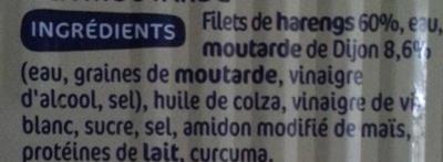 Pêche Océan - Filets de Harengs - sauce à la moutarde - Ingrédients - fr