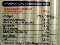 Pêche Océan - Filets de Harengs - sauce à la moutarde - Informations nutritionnelles - fr