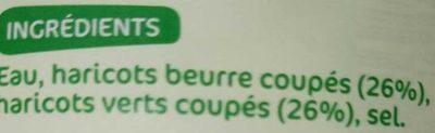 Duo haricots verts/beurre 445g pne - Ingrédients