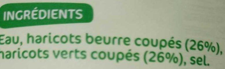 Duo haricots verts/beurre 445g pne - Ingrédients - fr