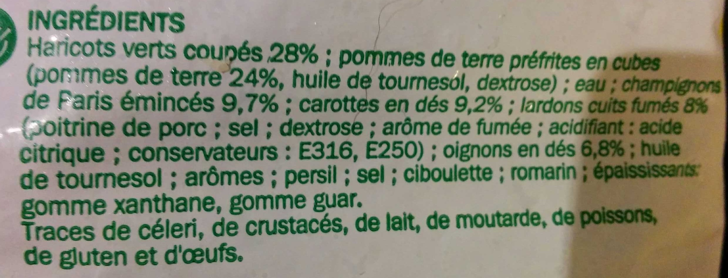 Poêlée Parisienne - Ingredients