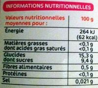 Mélange fruits exotiques - Informations nutritionnelles - fr