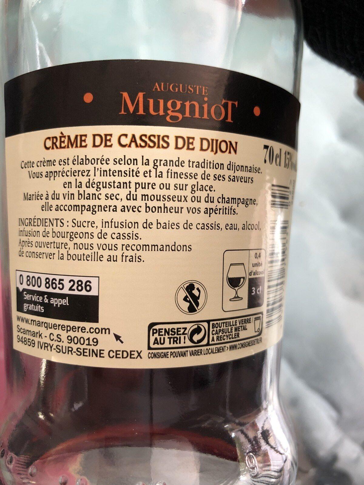 Creme De Cassis De Dijon 15 Auguste Mugniot 70 Cl