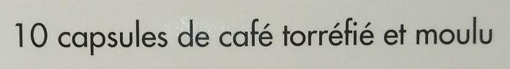 Capsules de café équilibre x 10 - Ingrédients - fr