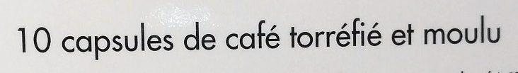 Capsules de café intense x 10 - Ingrédients - fr