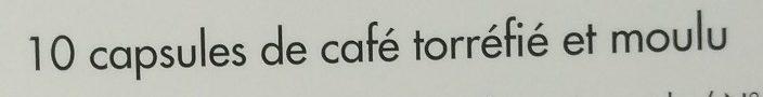 Capsules de café subtil x 10 - Ingrédients - fr