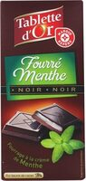 Chocolat Noir Fourré menthe - Produit