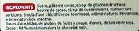 Chocolat Noir Fourré menthe - Ingrédients