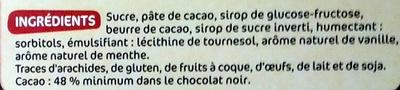 Chocolat Noir Fourré menthe - Ingrediënten - fr