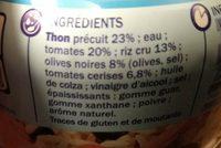 Salade de riz et thon - Ingrédients - fr