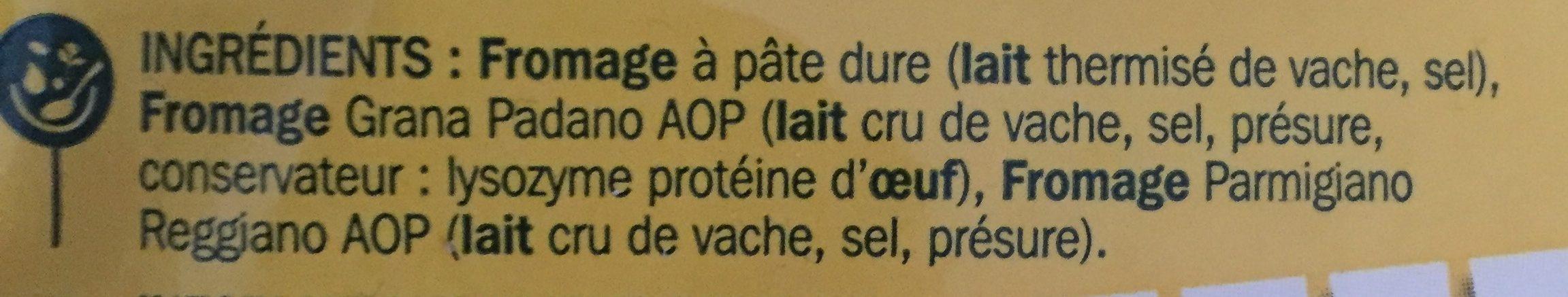 Il grattugiato 29% Mat. Gr. - Ingredients