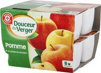 Compotes de pomme allégée en sucres - Product - fr