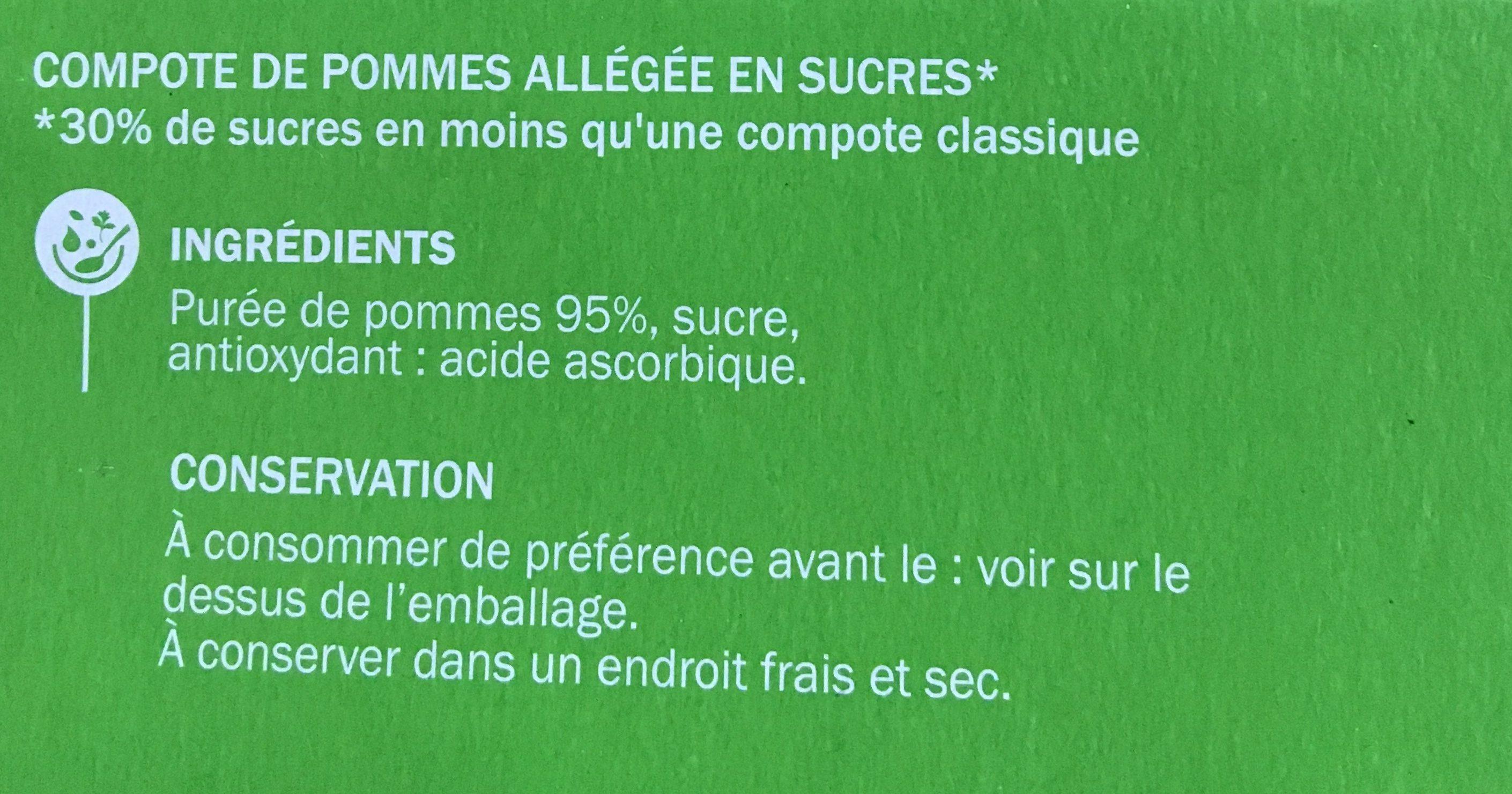 Compotes allégées pomme - Ingredients - fr