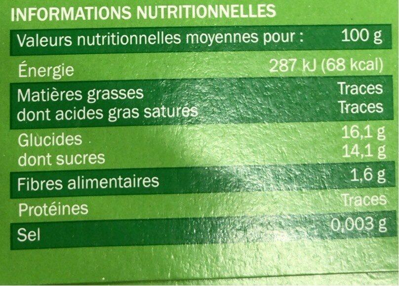 Compotes allégées pomme - Nutrition facts - fr