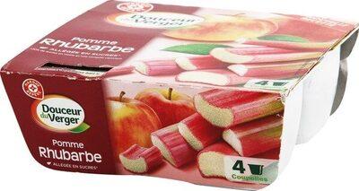Dessert de fruits pomme rhubarbe - Produit