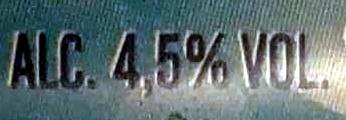 Bière blanche 4,5% vol - Informations nutritionnelles - fr