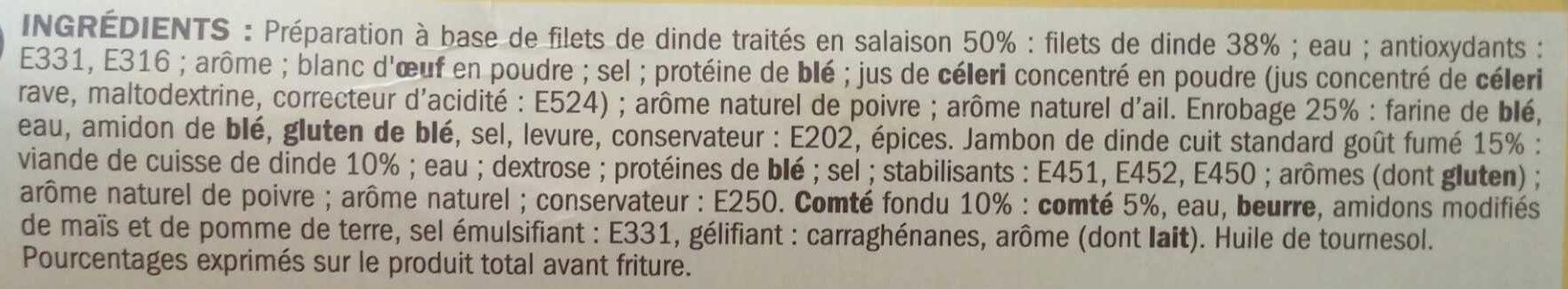 Escalopes cordon bleu comté x 2 - Ingrédients - fr