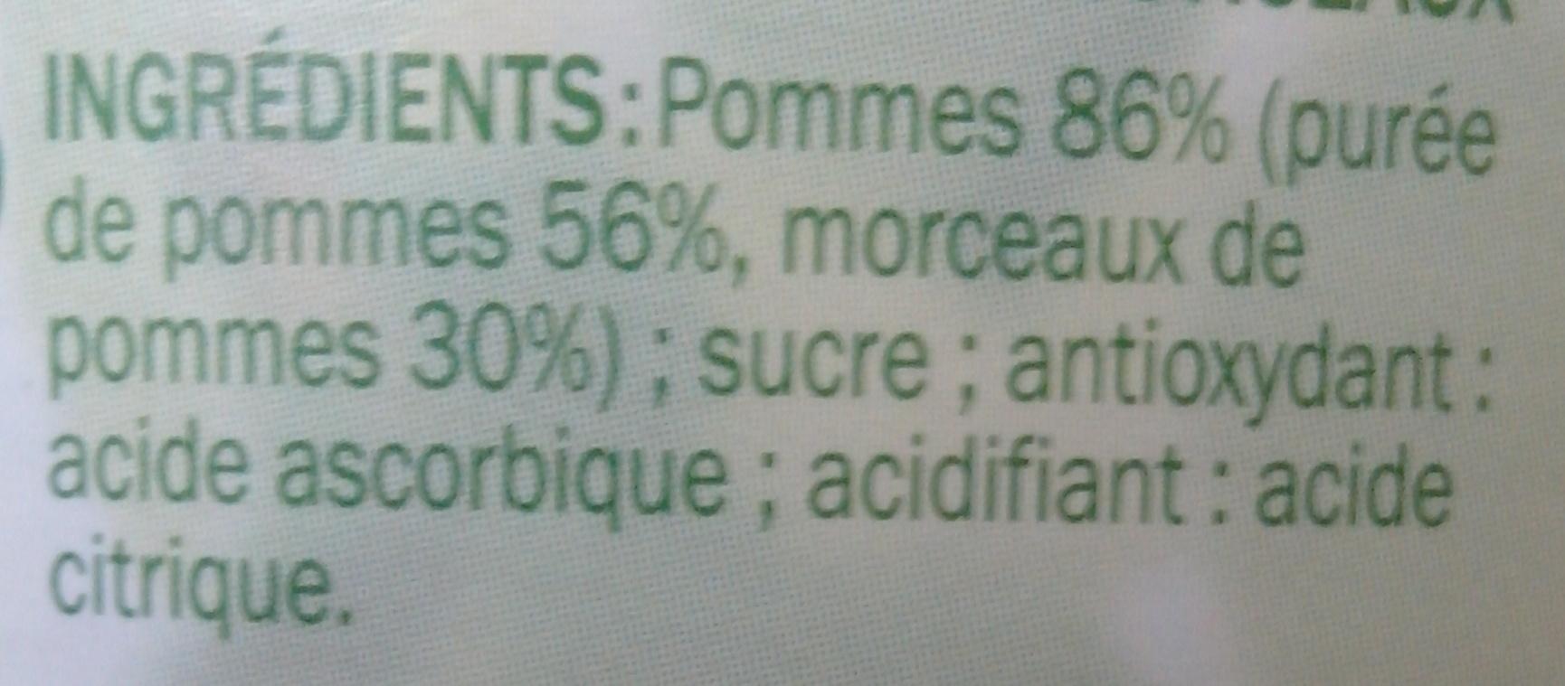 Compote de pommes morceaux douceur du verger 710 g - Acide citrique leclerc ...