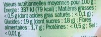 Compote de pommes avec morceaux - Informations nutritionnelles - fr
