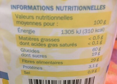 Chicorée nature - Nutrition facts - fr
