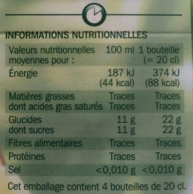 Pur jus multifruits - Voedingswaarden