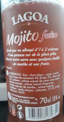 Mojito fraise 15 ° - Ingrediënten