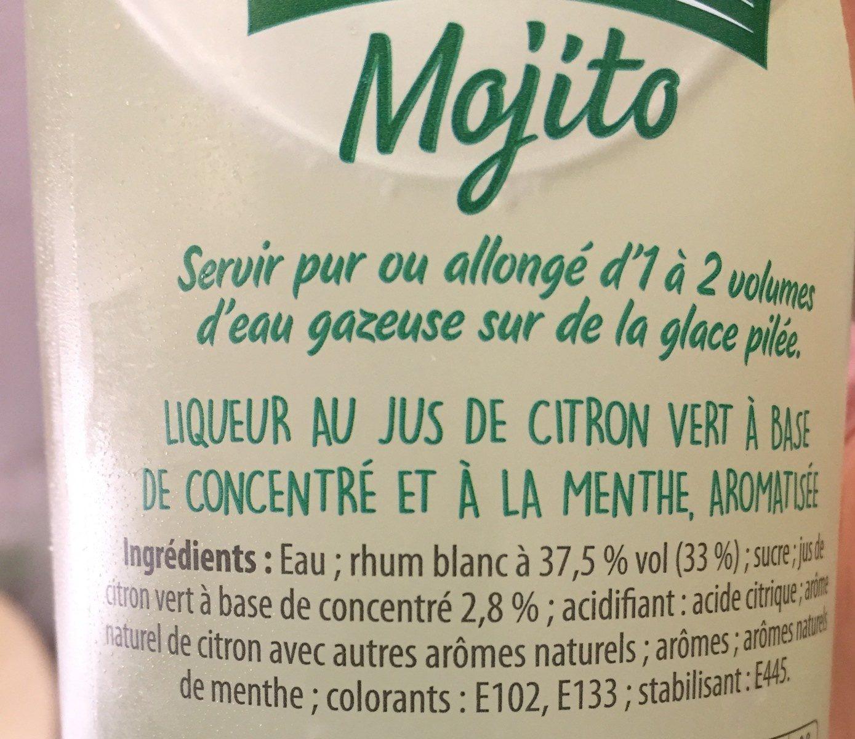Mojito 15 ° - Ingrédients - fr
