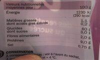 Feuilles De Filo - Valori nutrizionali - fr
