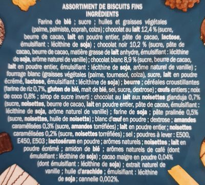 Assortiment biscuits P'tit Déli Boîte en fer - Ingredients