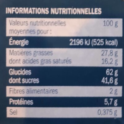 Assortiment biscuits P'tit Déli Boîte en fer - Nutrition facts