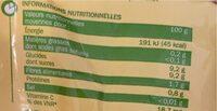 Mandarines - Voedingswaarden - fr