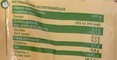 Mandarines - Voedingswaarden