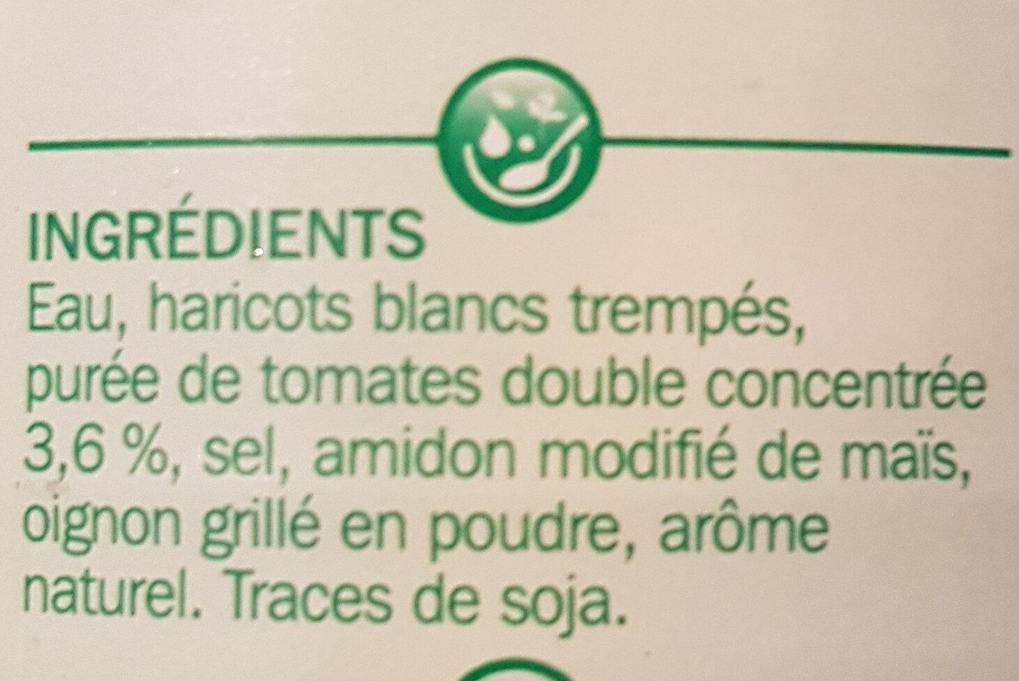 Haricots blancs tomate 1/2 - Ingrédients - fr