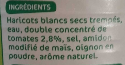 Haricots blcs tom 1/2 - Ingredients