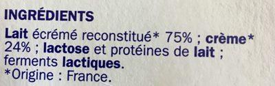 Yaourts à la Grecque - Ingrédients - fr