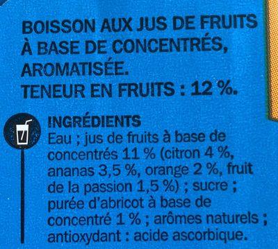 Boisson tropical Jafun - Ingrediënten