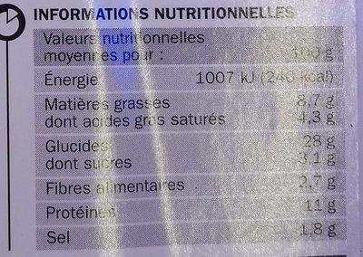 Pizza méga cheese boeuf épicé - Informations nutritionnelles - fr