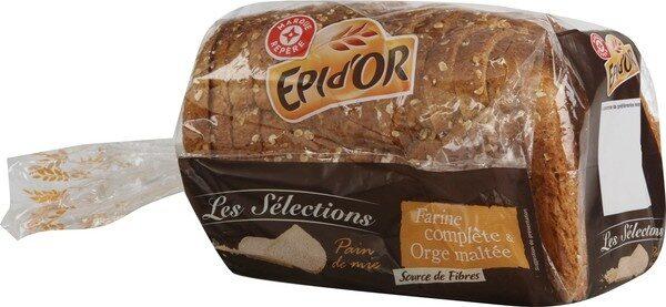 Pain de mie farine complète et orge maltée - Produit - fr