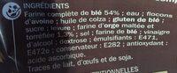 Pain de mie farine complète et orge maltée - Ingrédients - fr
