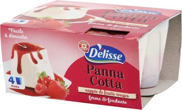 Panna cotta aux fruits rouges x 4 - Product - fr
